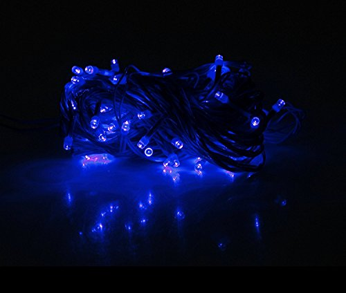 Ascension® Set Of 10 Blue Led String Light Of 13 Meter Serial Bulbs Decoration Lighting For Diwali Christmas With 10+1 Connectors Wire Jointer (Female Sockets)