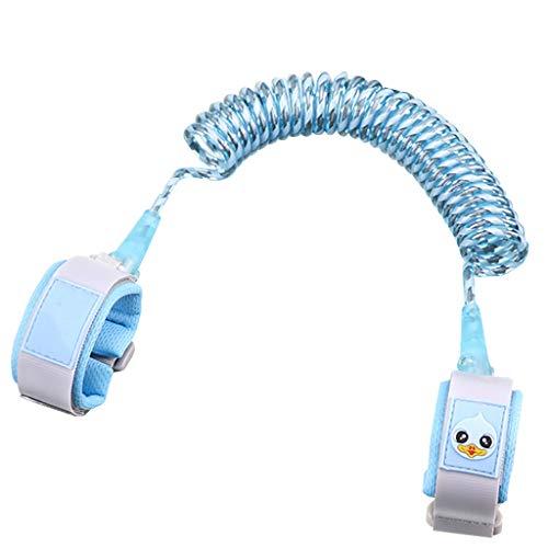 verlorene Gürtel Zugseil Baby Anti-verlorene Armband Sicherheit rutschfeste Baby Artefakt Anti-verlorene Seil Schutz Kinder Aktivitäten zu begrenzen (Color : BLUE, Size : 200CM) ()