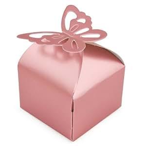 TRIXES 50 boîtes cadeaux papillon pour mariage, anniversaire ou décoration de fêtes