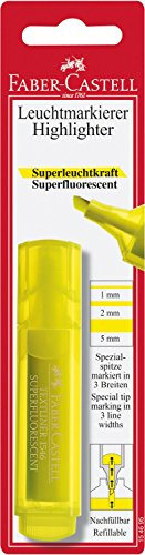 Faber-Castell 154695 – Marcador fluorescente Textliner 1546, color amarillo