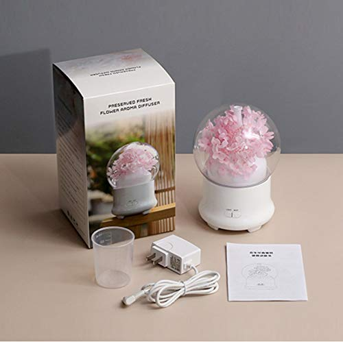 Night Lightnight Light Floral Aromatherapy Humidifier Lights Led Lamp Mist Maker Fogger Aroma Diffuser Air Humidifier Home Decoration - Maker 3d-kunst