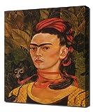 Frida Kahlo - Self Portrait With Monkey 1940 - Art Leinwandbild - Kunstdrucke - Gemälde Wandbilder