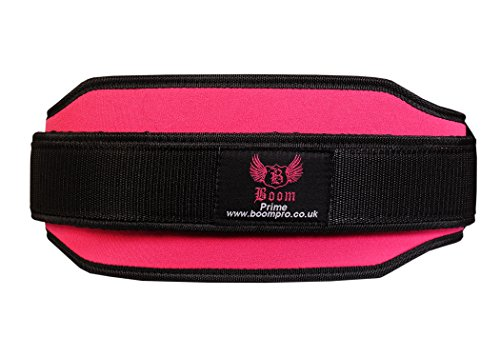 BOOM-Prime-Ladies-Pink-Weight-Lifting-Belt-Fitness-Gym-Back-Support-Lumbar-Neoprene-Women-Workout-Pain-Small