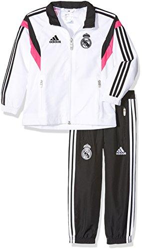 adidas F84081 - Chándal para niño, Blanco / Negro / Rosa, 152 EU