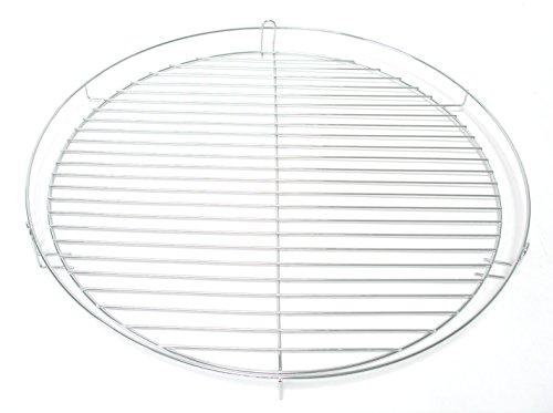 TOP Qualität 50 cm chrom Grillrost verchromt rund Grill Rost Grillgitter von Hesani GmbH -