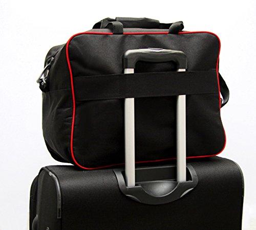 HANDGEPÄCK Reisetasche Reise Koffer Boardgepäck Bordcase 55 x 40 x 20 cm - Paasgenau für Flieger der von Firma WIZZAIR RYANAIR EASYJET Blau