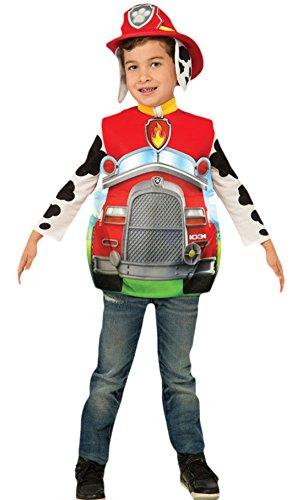 erdbeerloft - Unisex - Kinder Paw Patrol Marshall Helfer auf vier Pfoten Komplett Kostüm Karneval , Mehrfarbig, Größe 98-104, 3-4 (Kostüme Paw Patrol Zuma)