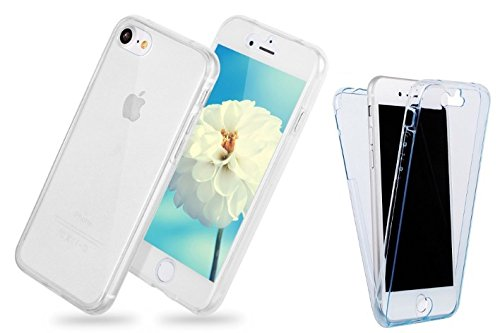 "itronik Full Body 360° für Apple iPhone 7 Plus 5,5"" Transparent Cover Hülle Case Schale Handy Tasche Schutz Etui Bumper - (iPhone 7 Plus 5,5"" blau) transparent"