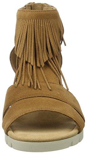 Gabor Comfort, Sandales Bout Ouvert Femme Beige (camel Jute)