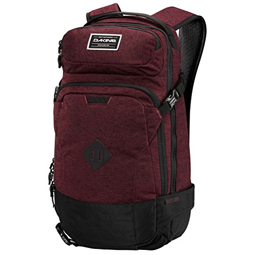 "DAKINE Heli Pro 20L Polyester Black,Bordeaux backpack - backpacks (Polyester, Black, Bordeaux, Monotone, 600 D, Unisex, 38.1 cm (15"")) Black, Bordeaux"