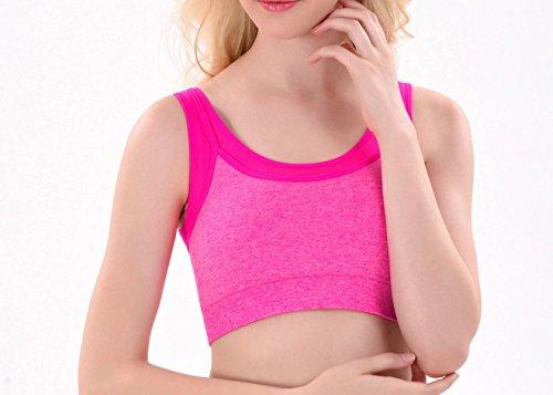 WKAIJCC 3Pack Femme Sous-vêtements Sports Soutien-gorge Choc Fitness Yoga Beauté Arrière Respirant élégant Sauvage Sans Trace Sans Acier A