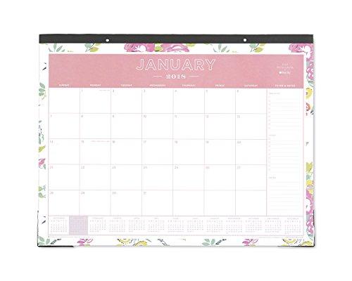 Tag Design für Blue Sky 2018Monatliche Schreibtischunterlage Kalender, 55,9x 43,2cm Peyton weiß (Designer Lilly Pulitzer)