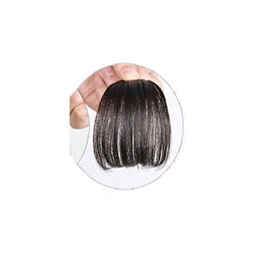 Mädchen Ein Stück Haar Erweiterungen Mode Front Fransen Pony Clip in auf