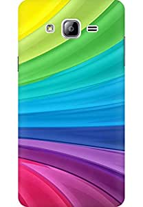 AMEZ designer printed 3d premium high quality back case cover for Samsung galaxy on7 pro (Rainbow Swirl)
