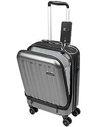 Valise Cabine avec Compartiment Ordinateur Portable Bagage à Main Trolley Rigide et Léger 4 roulettes Doubles pivotantes à 360º Serrure TSA Sulema USB
