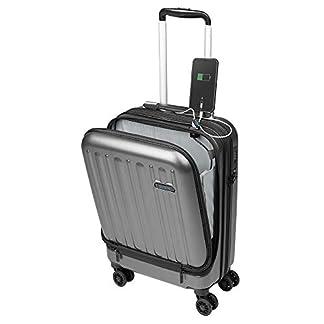 Maletas de Viaje de Cabina 55x40x20 con USB de Carga Equipaje de Mano Trolley rigida 4 Ruedas giratorias 360º candado TSA Maleta Tyanair, American tourister Sulema