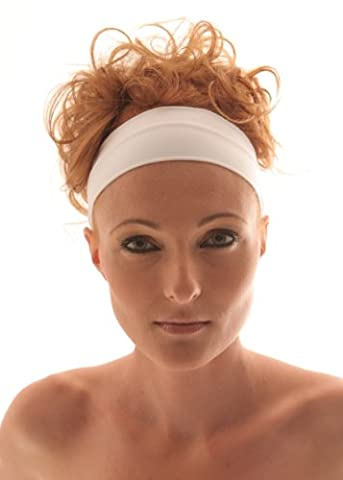 WHITE Stretch Microfiber Headband, Beauty, Fitness, All Head Sizes, for Any Activity, They Are comfortable, stylish, fine and absorptive. Hight quality of material. Very pleasant to touch. Head Band, Sweat Band,