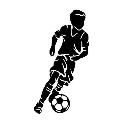 BMBM Little Boy Football Player Aufkleber Sport Fußball Auto Aufkleber Helme Kinderzimmer Name Poster Vinyl Wandtattoos, 69 * 130