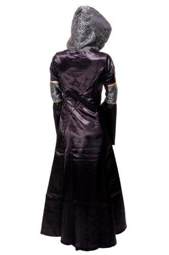 Kostüm Damen Damenkostüm aufwändiges Kleid mit Haube Mittelalter Romantik Elfe Gotik Gothic Burgfräulein L068 Gr. 46 / L - 4
