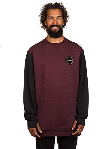 Herren Sweater Analog Enclave Crew Sweater Deep Purple