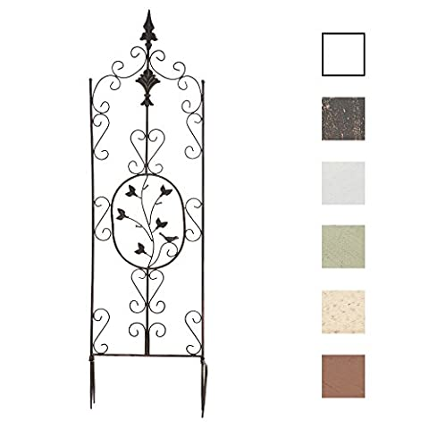 CLP Elegant Iron Trellis BURGUS, approx.: 120 x 35 cm, ideal as a climbing support for plants, choose from up to 6 colours bronze