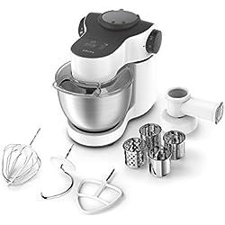 Krups ka2521Robot de cocina Master Perfect, 4L, 700W, incluye accesorios, acero inoxidable/blanco