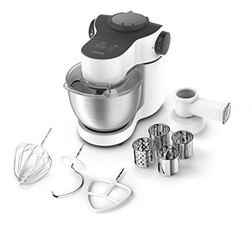 Krups KA2521 Küchenmaschine Master Perfect, 4 L, 700 W, inklusive Schnitzelwerk, edelstahl/weiß