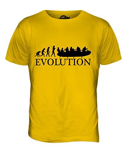 CandyMix Wildwasser Rafting Evolution Des Menschen Herren T Shirt Dunkelgelb