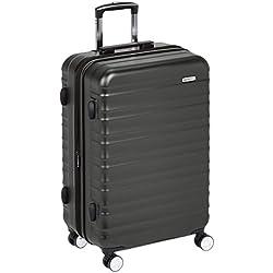 AmazonBasics Valise rigide à roulettes pivotantes de qualité supérieure avec serrure TSA intégrée - 68cm, Noir