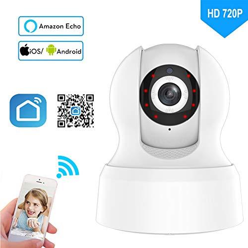 720P caméra de sécurité sans Fil Smart Life Accueil WiFi...