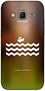 Snoogg Stylized Cruise Liner And Waves Solid Snap On - Back Cover All Around ...