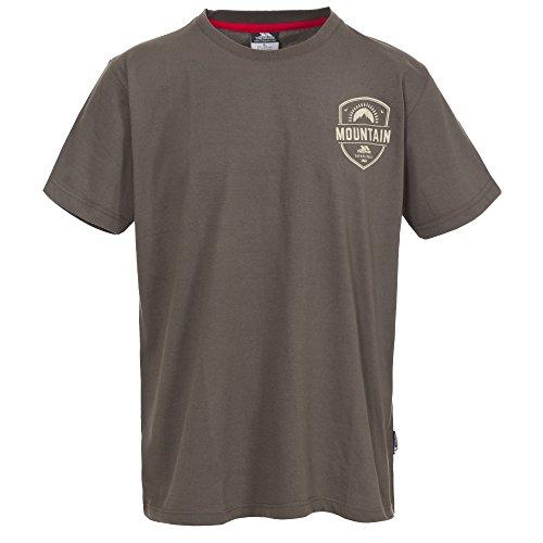 Trespass Herren Rawhider Freizeit Kurzarm T-Shirt Khaki