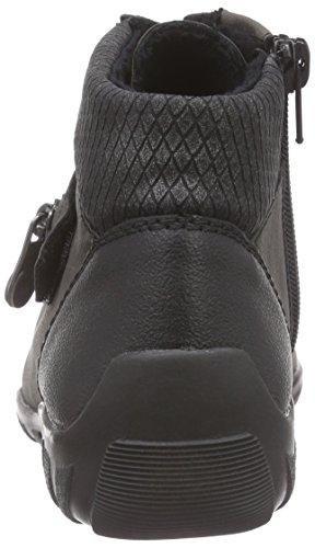 RiekerL6542 - Sneaker alta Donna Grigio (Grau (schwarz/fumo/granit / 01))