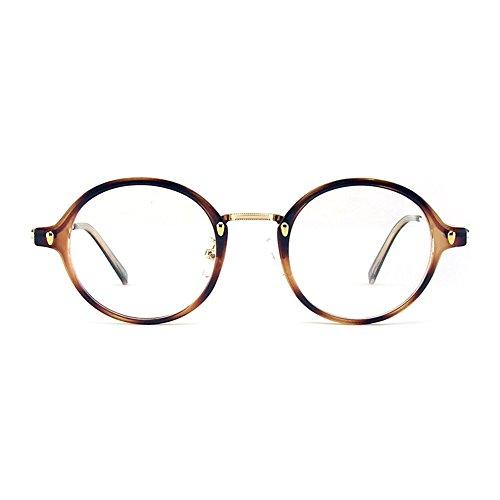 1920s Nerd Brille filigran rund Glasses Klarglas Hornbrille treber 35R50 Leopard