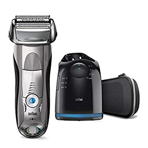 Braun Series 7 Electric Shaver for Men 7898cc, Wet and Dry, Integrated Precision Trimmer, Rechargeable and Cordless Razor with CleanandCharge Station and Premium Travel Case, Silver