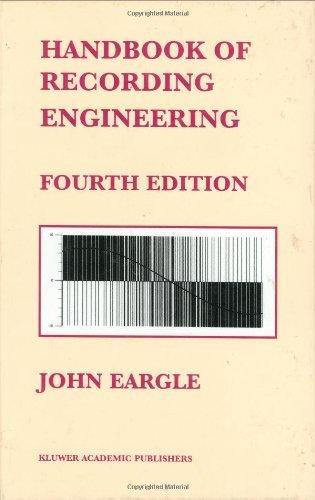 Handbook of Recording Engineering by John Eargle (2002-10-31)