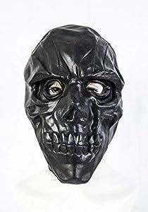 The Rubber Plantation TM 619219291552 - Máscara de látex para disfraz de Halloween, calavera, esqueleto y horror (talla única), color negro