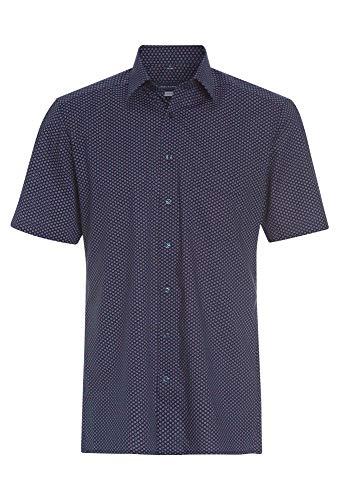 Paul R.Smith Gemustertes Cityhemd für Herren dunkelblau,45/46