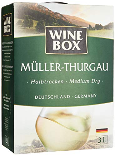 Wine Box Müller-Thurgau Landwein Rhein halbtrocken Bag-in-Box (1 x 3 l) -