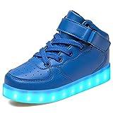 LeKuni Unisex LED Schuhe Leuchtschuhe 2018 Verbesserung 7 Farbe Blinkende Leuchtende Light up High Top Sneakers-LED_GB_LAN37
