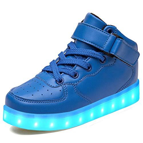 (LeKuni Unisex LED Schuhe Leuchtschuhe 2018 Verbesserung 7 Farbe Blinkende Leuchtende Light up High Top Sneakers-LED_GB_LAN41)