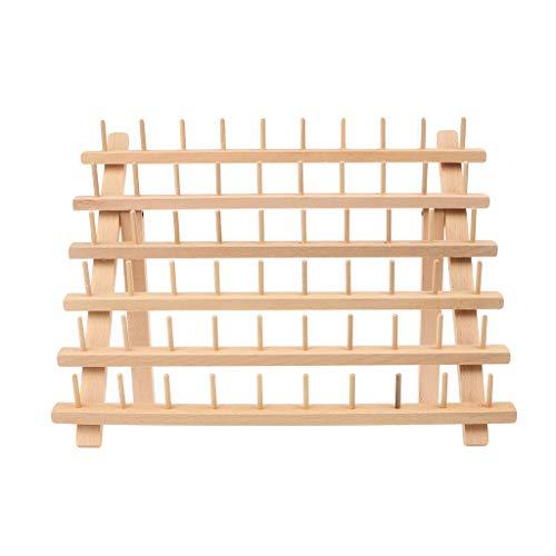 Wqingng Faltbarer Holzfadenständer Rack Hält 60 Spool Cone Stickmaschine Nähende Speicherhalter