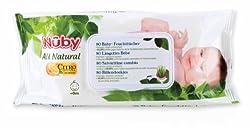 Nuby All Natural Baby-Feuchttücher, 2 x 80 Stück (Doppelpack)