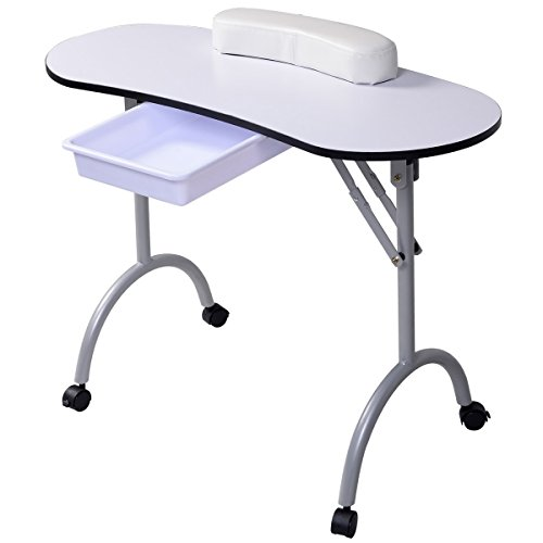 Tisch klappbar - Tragbarer Nageltisch mit Tasche und Handgelenkauflage