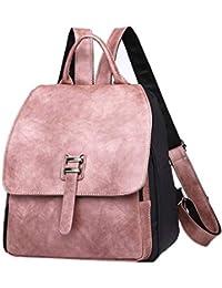 f01d2d7815f4e Hasun Mode Schule Backpack PU Leder Klein Rucksack Damen Lässig  Schulrucksack Mädchen Freizeitrucksack Einfach Cityrucksack…