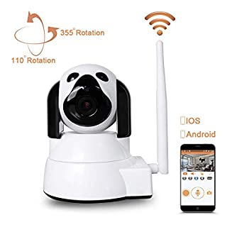 IP Camera Wireless LXMIMI WiFi Camera 720P HD Surveillance Camera IP Cam with 355 °/110 ° Pivoting, Motion Detection, Night Vision, Remote Control