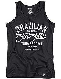 Brazilian Jiu-Jitsu Tank Top. Vest. Rio De Janeiro Workout Camp. Thumbsdown Last Fight. Gladiator Bloodline. Martial Arts. Fightwear. Training. Casual. Gym. MMA T-shirt