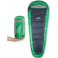 MOUNTREX Schlafsack – Ultraleicht & Kompakt (850g) | Outdoor Sommerschlafsack - Mumienschlafsack (205x75cm) | Kleines Packmaß | GRATIS Reisekissen