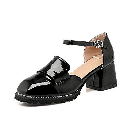 Talons hauts vent British vintage ladies/épais avec des chaussures de la femme sauvage étudiant au printemps B