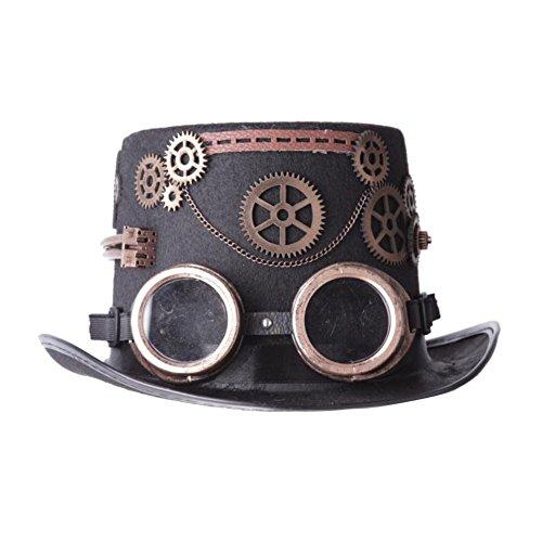 ∣ Retro- Steampunk- Zylinder∣ Cosplay- Rockabilly-Hut∣Viktorianisch∣Brille&Zahnräder∣ viele Modelle (21972-9001-000) (Einfache Kostüme Kommerzielle)